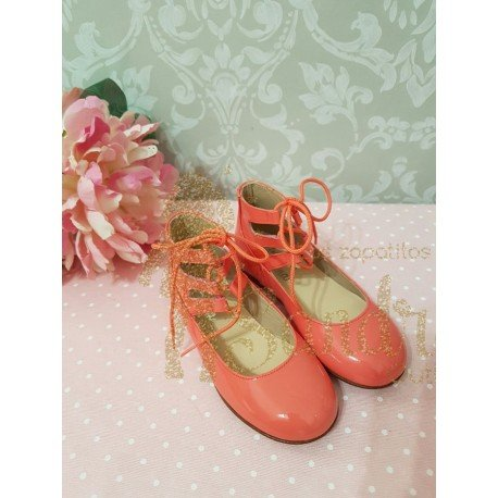 bailarina color coral charol sharky